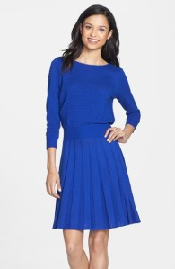 Eliza J Knit Blouson Dress